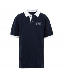 Short sleeved polo white/blue